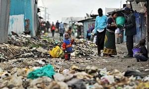 Mukuru slum in Nairobi
