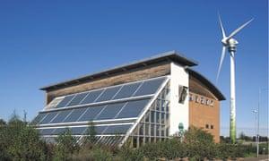 Green Britain Centre and wind turbine at Swaffham, Norfolk