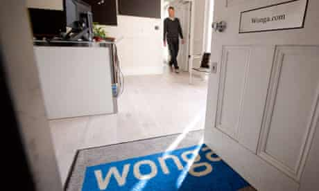 The offices of Wonga, the payday loan company