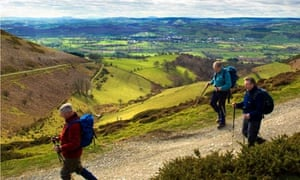 Walkers in Wales