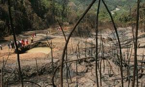 Gas explosion in Cuzco jungle in Peru