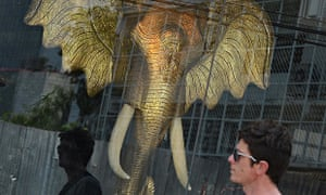 Elephant Ivory trade and endangered species in Bangkok, Thailand
