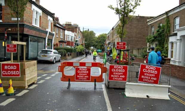 Bike blog : Temporary Mini Holland infrastructure in Walthamstow , London
