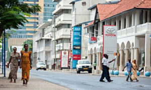 MDG : Foreign aid development projects in Tanzania :  downtown Dar es Salaam