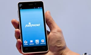 prototype of a Fairphone smartphone during its unveiling in London