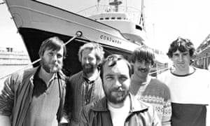 Peter Wilkinson with other Greenpeace activists in front of The Gondwana