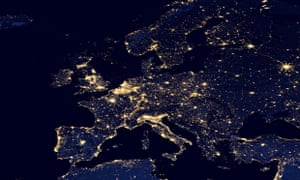Satellite view of Europe at night : EU energy policy