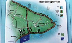 A map of Flamborough Head's 'no take zone', shown in blue