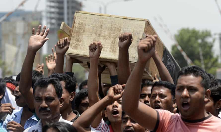 Bangladeshi garment workers and activist