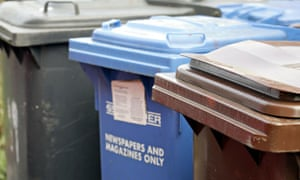 waste bins including refuse paper and garden waste