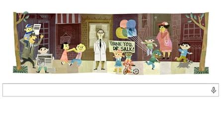 Google doodle : Thank you Dr Salk