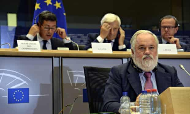 Stop Canete campaign in Brussels :  European Energy and Climate Commissioner nominee Arias Canete