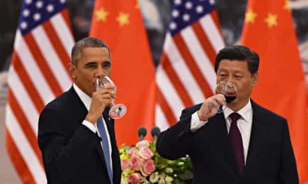 Barack Obama and Xi Jinping : Carbon cuts talks