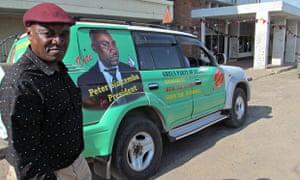 Zambia Green Party President Peter Sinkamba