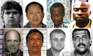 Ben Simasiku, top right, has been arrested in Zambia after Interpol's 'Operation Infra Terra'.