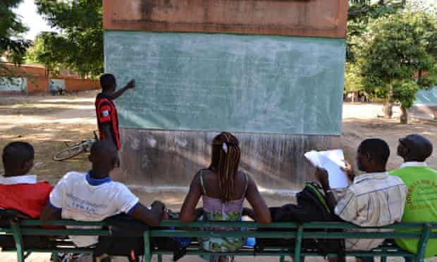 MDG : African students : Burkina Faso students on the campus in  Ouagadougou
