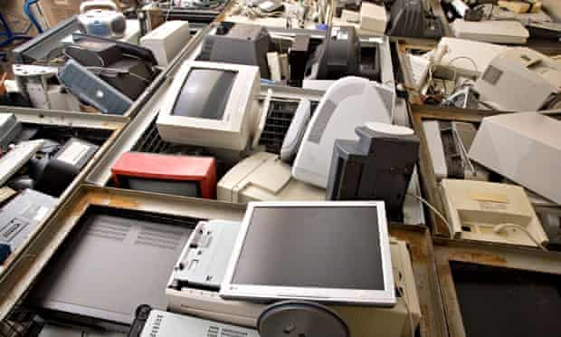 Old computers at recycling depot : Consumers offered cash for old gadgets in new recycling scheme