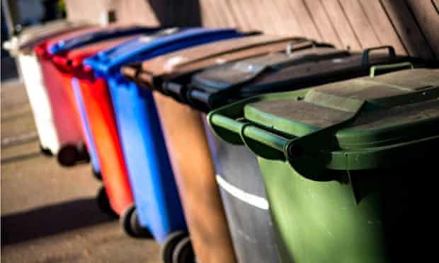 UK Wheelie Bins for Recycling Rubbish.