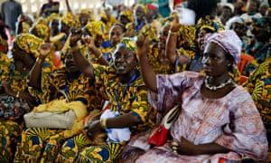 MDG : Ebola in Guinea : inauguration of Macenta Ebola treatment center in Macenta, Guinea Conakry