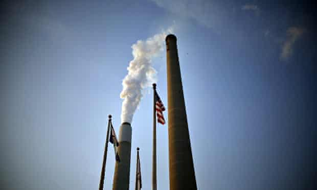 Global warming and greenhouse gas and carbon CO2 emissions : coal power plant