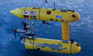 The Autonomous Underwater Vehicle (AUV) Puma in the East Antarctic Seato mesure sea ice.