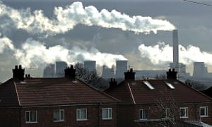 Pollution at Drax Coal Power Station near Selby