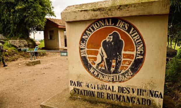 An access to the Virunga National Park