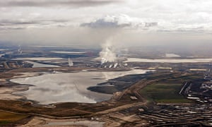 Aerial view of tar sands in Fort McMurray, Alberta, Canada, Canada