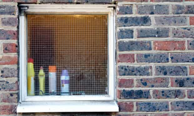 endocrine disruptor chemicals ( EDC ) hormone-mimicking chemicals : cleaning products placed shelf