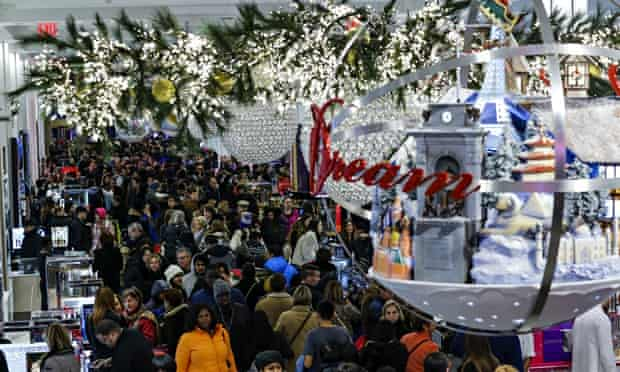 Black Friday Shoppers at Macy's in New York City