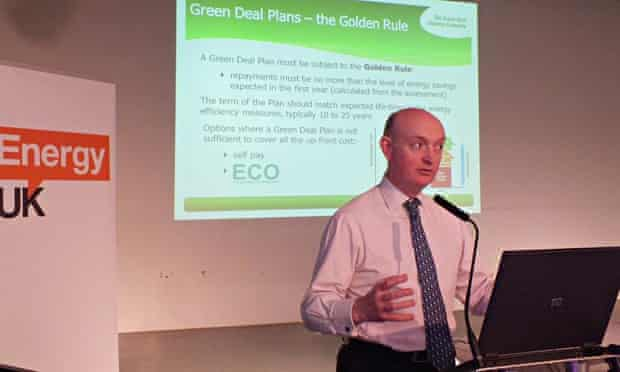 Mark Bayley, CEO of the Green Deal Finance Company speaking in Glasgow about Green Deal plans
