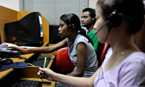 MDG : Call center in India