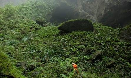 A Hang Son Doong cave  explorer in Phong Nha-Ke Bang National Park, World Heritage Site