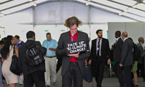 A participant at Lima Climate Change Conference COP20, Peru