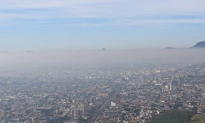 COP20 Lima Climate Change Conference : layer of pollution over  Rio de Janeiro, Brazil