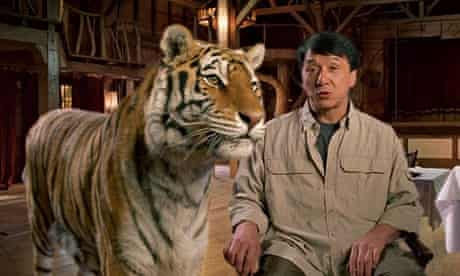 Jackie Chan from a WildAid's video to save tigers