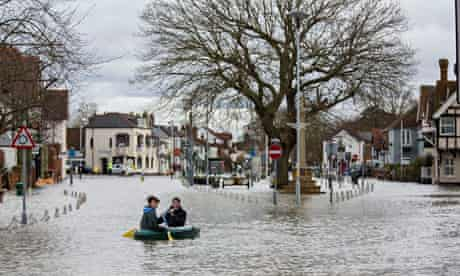 Extreme Floods in Datchet, Berkshire