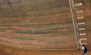 Extreme Weather :  empty dam during drought in Brazil
