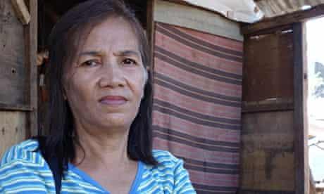 MDG : Estrella Moro from Anibong in Tacloban, Philippines post Typhoon Haiyan