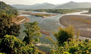 Upper Brahmaputra also known as Siang River Arunachal Pradesh State, India