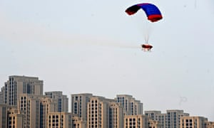 China use drones to fight pollution in spraying chemicals to freeze PM2.5 particles