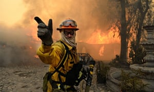Fire in California Burns Homes Near Los Angeles