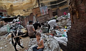 MDG : Zabaleen, or garbage people in Moqattam area in Cairo, Egypt