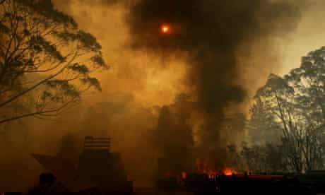 Planet Oz blog on Climate report : Hundreds of Homes lost in Bushfires across New South Wales