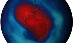 The ozone hole reached its biggest extent for the year