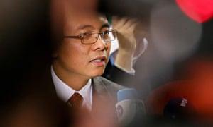 Filipino delegate Yeb Sano at UN Climate Change Conference COP19 in Warsaw