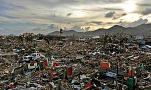 aftermath of Typhoon Haiyan in Tacloban, Leyte, Philippines