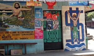 MDG : Mural painting in Nueva Trinidad, a small village in the hills of Chalatenango, El Salvador