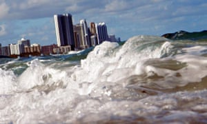 Climate change in Cities : Miami Florida Coast Line At Greatest Risk Of Rising Sea Level