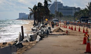 Climate change in Cities: coastal erosion and sea levels rising in Lauderdale Florida